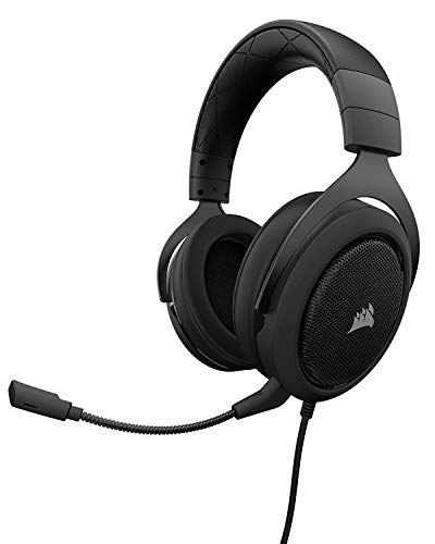 CORSAIR HS50 - Stereo Gaming Headset - Discord Headphones - Carbon (Renewed)