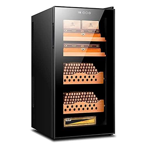 ZHAOHGJ Humidor de Cigare de Grand cigaret Autonome avec Porte en Verre et poignée dissimulée 58L Armoire de Cigare pour 500 cigares pour...
