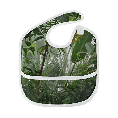 Zemivs Baberos para niños Amazon Primeval Jungle Mancha suave personalizada Bebé alimentación Dribble Drool Baberos Eructo para bebés 6-24 meses Amazon Primeval Jungle