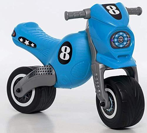 thorberg Crossbike Rutscher Laufrad Motorrad Rutschauto Für Kinder von 3 Jahren, Bis 50 kg, Blau