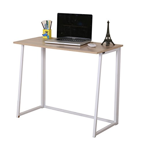 Cherry Tree Furniture Compact Foldable Computer Desk Laptop Desktop Table (Natural)