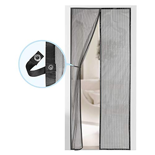 Magnetic Screen Door - Self Sealing, Heavy Duty, Hands Free Mesh Partition Keeps Bugs Out - Pet and Kid Friendly - Patent Pending Keep Open Feature - 38' x 83' - by Augo