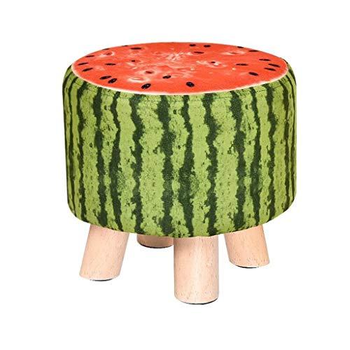 LDM Wassermelonen Stil Woody Vierbeiner Niedriger Hocker Kreative Kindersofa Hocker (29 * 29 * 28 cm)
