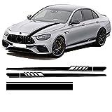 Linsuiw para MercedesClase E W213 E63 AMG E53 S E43 S213 A238 C238 2021 Calcomanía para capó de CocheRayas Laterales Falda Pegatina