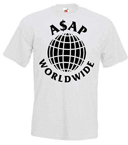 TRVPPY Herren T-Shirt Modell ASAP Worldwide, Weiß, XXL