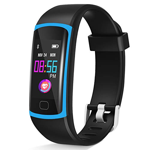 HuaWise Fitness Tracker, Waterproof Activity Tracker with Heart Rate Monitor and Sleep Monitor, Waterproof Pedometer, Step Counter, Calories Counter for Android & iPhone