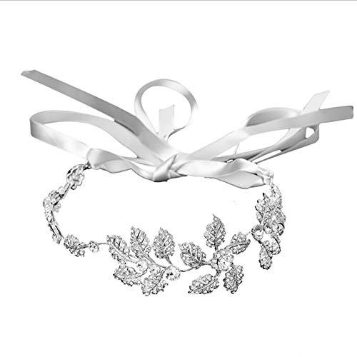 RanDal Joyería de la boda Concurso Corona Diadema Cristal Diamante de imitación Princesa Tiara Diadema nupcial