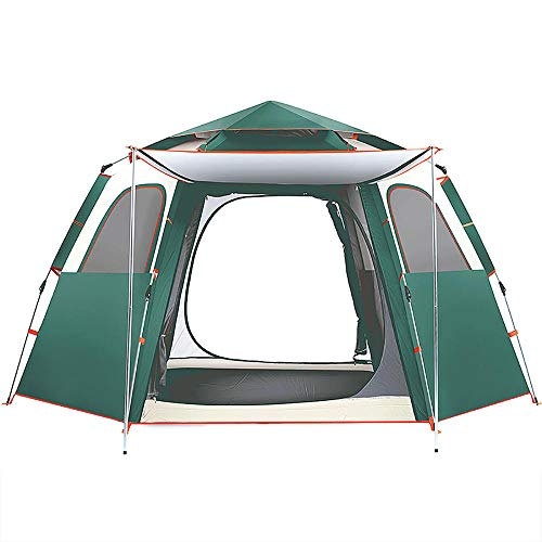 QWEA Pop Up Tents, outdoor tent for 4, Automatic Waterproof Lightweight Camping Tents with Breathable Windows Easy Setup Suitable for Outdoor Hiking Traveling Festival Bedroom Garden