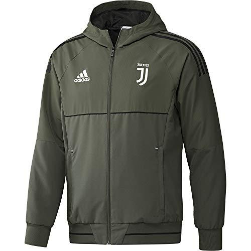 adidas Juve EU Pre Jk Chaqueta-Línea Juventus de Turín, Hombre, Verde (verbas/Negro), XL