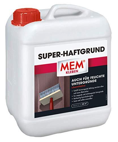 MEM Super Haftgrund - Haftvermittler - Bessere Haftung zwischen Materialien - Mörtel - Putz - Estrich - Beton - Dichtschlämme usw. - 5 L