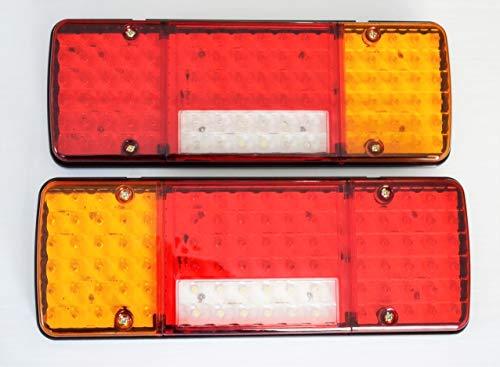 12 V LED-Rückleuchten mit 5 Funktionen, dünnes Design, 340 mm für Anhänger, LKW, Chassis, Wohnmobil, Wohnmobil