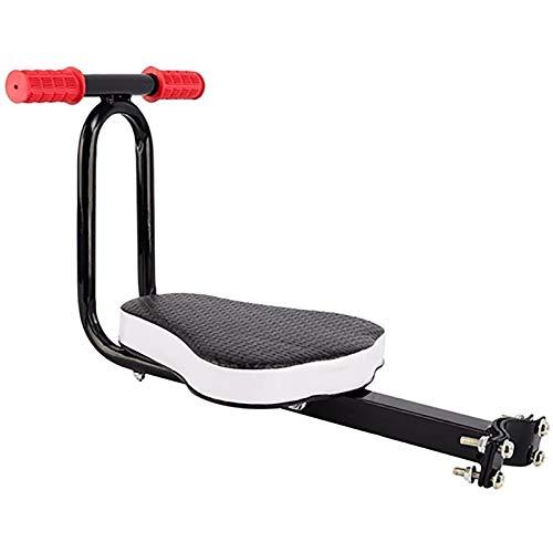 GYYlucky Asiento De Bicicleta para Niños Silla Delantera De Bicicleta Eléctrica para Niños Asiento De Bebé con Cojín con Reposabrazos Asiento De Bicicleta para Niños Plegable Cinturón De Seguridad