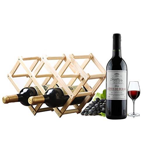 Anyeat Botellero de bambú para 6 Botellas, Plegable Estante del Vino Vino...