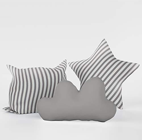 Elfique New 7019-117213 Sitzkissen Kissen Set, Grau