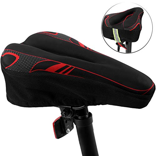 Bike Seat Cover Bicycle Saddle Cushion with Memory Foam for Women Man & Kids to Ride on BMX,Confort,Electric,Fixed Gear,Mountain,Road,Cyclocross,Tandem Bikes