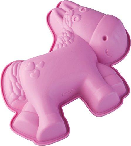 HABA 301147 – Silikon-Kuchenform Pferd Milly | Kuchenform für alle Pferde-Fans| 29 x 24cm, spülmaschinenfest, lebensmittelecht | für Ofen und Gefrierfach geeignet | für Kuchen, Pudding und Eis | für die Kindergeburtstagsparty