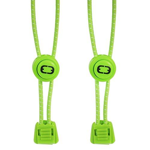 Active Elite elastico Lacci con chiusura rapida–Sistema di allacciatura rapida per eccezionale Comfort, vestibilità perfetta e un' ottima tenuta, verde fluo