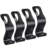 Car Seat Hooks, Universal Headrest Hooks for Purses Groceries Bags with Lock, 4 Pack