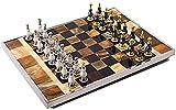 EIERFSKIOT tablero ajedrez ajedrez profesional ajedrez magnetico plegable Juegos de ajedrez internacionales para adultos, moderno, ligero, creativo, tablero de ajedrez, piezas de ajedrez de metal, aje