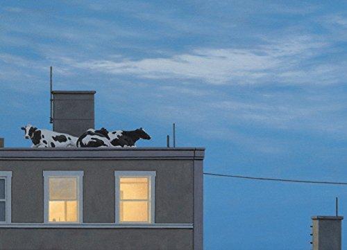 Postkarte A6 • 12890 ''Der Besuch der Kühe'' von Inkognito • Künstler: Quint Buchholz • Fantastik