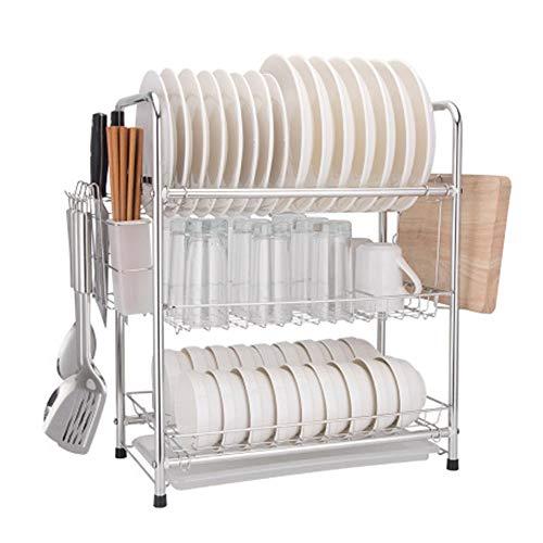 WANGJIANG 304 RVS afdruiprek afdruiprek keuken rek huishoudelijke afvoerkast opknoping schotel rek servies opslagdoos