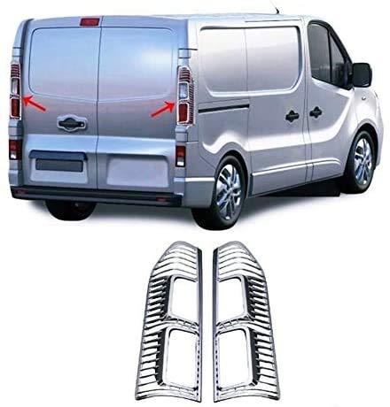 Para TRAFIC MK3 III 2014up Vivaro ABS cromo luz de freno trasera marco lámpara cubierta 2 piezas