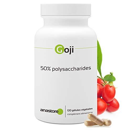 GOJI (Lycium barbarum) * Extrait concentré * 100% naturel* Titré à 50% en polysaccharides * 375 mg / 120 gélules végétales * Jeunesse et énergie vitale * Qualité contrôlée par certificat d'analyse * 100% satisfait ou remboursé