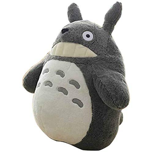Mein Nachbar Totoro Plüsch Puppe Plüsch Tier Spielzeug Dekokissen dekorative Urlaub Geburtstag Kind Geschenk grau Totoro Flauschige Sitzsäcke,B,30CM