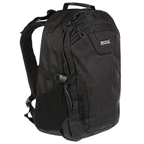 Regatta Cartar Hardwearing Padded Laptop Pocket Reflective Travel Backpack - Black, 25 Litre