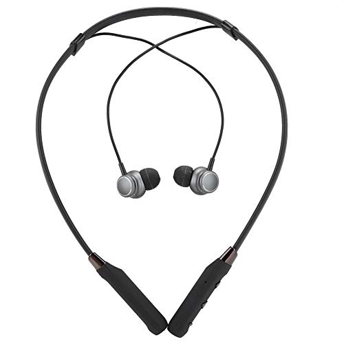 %9 OFF! Bluetooth Earphones,Portable Ergonomic Magnetic Suction Necklace Design HiFi Wireless Headse...