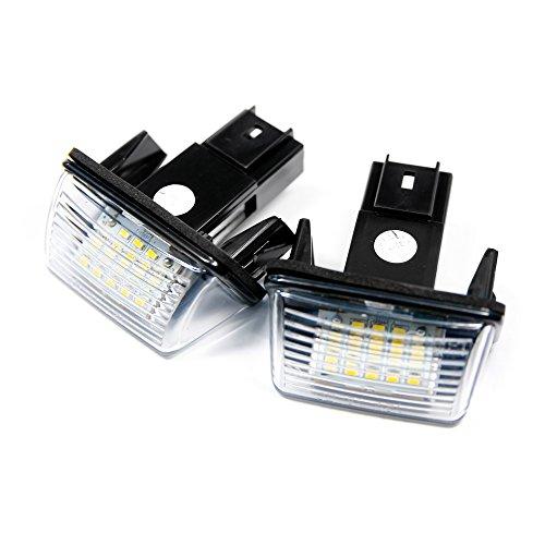 2 x LED Kennzeichenbeleuchtung Xenon 6000K Kennzeichen Leuchten Weiß