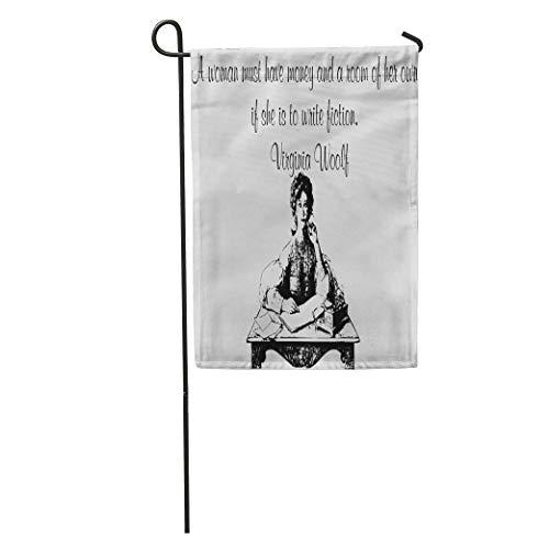 Gartenflaggen 12,5 'x 18' Berühmte Virginia Woolf Sprüche Sprüche Englisch Schriftsteller Outdoor Dekorative Haus Hof Flagge