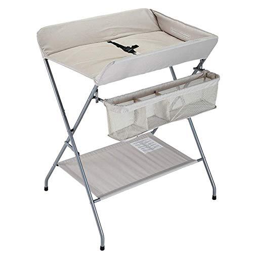 YFQ Windelstation Folding Wickeltisch Wickeltisch Tragbare Roller Baby Schminktisch Schminktisch Massage Station