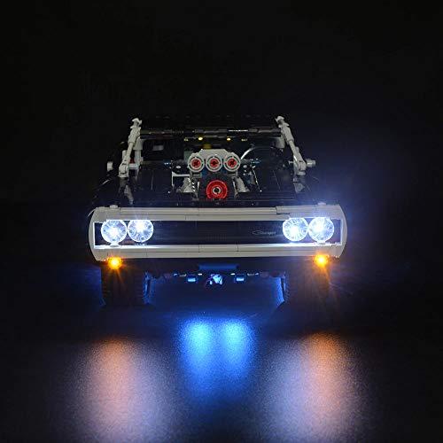 Kyglaring LED Luce per LEGO Fast & Furious 42111 Mattoncini per mattoncini leggeri per kit di montaggio caricabatterie Dodge LEGO 42111 (modello 42111 NON incluso)