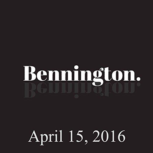 Bennington, April 15, 2016 audiobook cover art