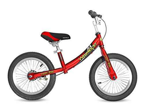 WeeRide 81490 Deluxe Balance Bike for 3-6 Years Child, Red