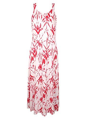 Alba Moda Figurumspielendes Maxi Kleid in Weiß aus Viskose