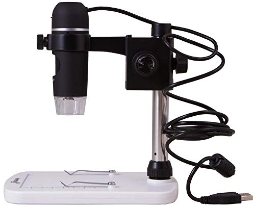 Levenhuk DTX 90 Portable Digital Microscope (10-300x) with Retractable Camera for Usage in Electronics, Jewelry, Biology, Zoology, and More
