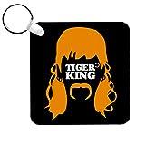 Cloud City 7 Tiger King Joe Exotic Hair Silhouette Keyring