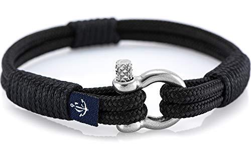 Schäkel Maritimes Armband aus Segeltau von Constantin Nautics, handgemacht, Geschenkidee für Damen und Herren CNB #862 20 cm