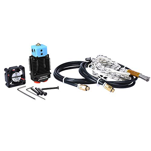 BIGTREETECH 3D Printer Part 2 in 1 Out Hotend Multi Color Dual Bowden Extruder Full Kit with Silicone Sock for Titan MK8 Bulldog Extruders (24V Black Color)