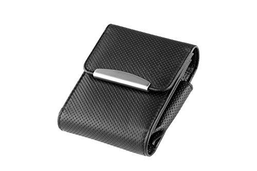 ZIGARETTENBOX Leder für Zigarettenschachtel Big Box - Big Pack - XL - XXL (Schwarz)