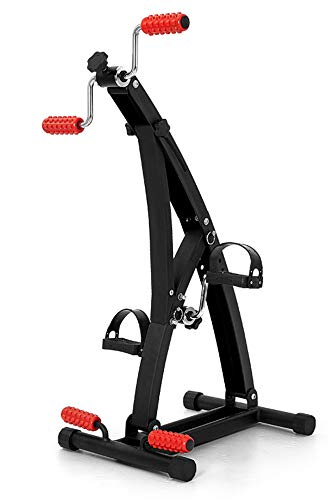 Exerciser Portable Mini Bike Been Arm Trainer Fitness Stepper bovenste en onderste ledematen Trimfiets Workout Machine Gym, Bejaarden Mannen Vrouwen