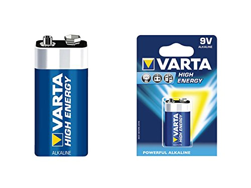 5 x 9V-BLOCK BATTERIE 6LR61 4922 VARTA HIGH ENERGY