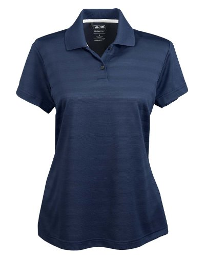 Adidas Golf Ladies' Climalite Textured Short-sleeve Polo - Gecko
