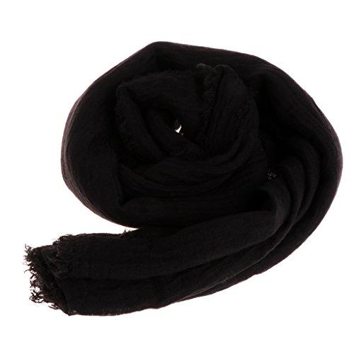 Folewr-8 Damen Kopfbedeckungen - Islam Crinkle Cloud Hijab Schal Shawl Muslim Langer Schal Stola Wrap