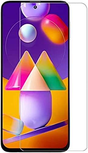 PRASO TECH Premium Tempered Glass Full Screens Coverage Except Edges Screen Protector for Samsung Galaxy M31S with Easy Installation Kit Transparent