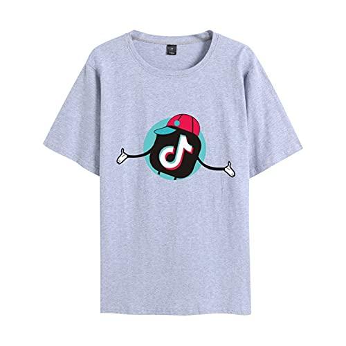 Camiseta Clásica De Manga Corta TIK-Tok De Verano para Hombres Y Mujeres Camiseta Deportiva para Ejercicios De Gimnasio Muscular Camiseta Ropa Deportiva Al Aire Libre XXL