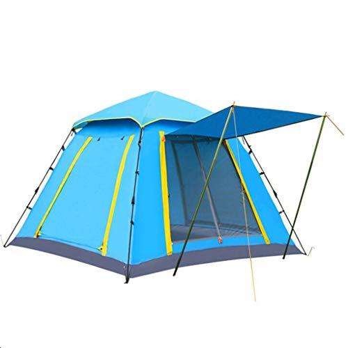 ZY Camping Automatisches Zelt, Outdoor-Platz Oben Großen Raum Mehrpersonen-Freizeit 3-4 Personen Camping Zelt Belüftung Visier Anti-Sturm,Upgrade