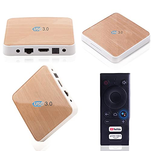 Android 10.0 TV Box【4GB+32GB】 WiFi6 CPU TV Box Android with Remote Control Bluetooth USB 3.0 Smart TV Box Ultra HD 4K HDR Built-in Chromecast Support MP3/WMA/WAV/OGG/ASF/AVI/VOB
